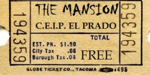 The Mansion ticket